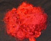 Recycled Sari Silk Fiber Threads Cobweb - Red - Fair Trade