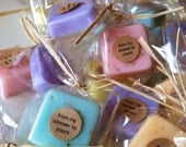 DOZEN shower favors: mini soap shower favors