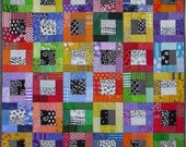 Quilt Pattern -- Paper Pattern for Color Blocks wall quilt