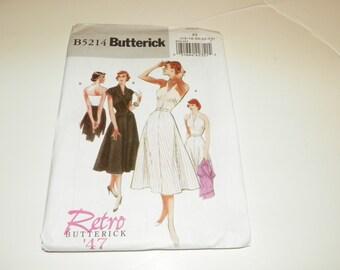 Vintage Halter Dress Plus Size Pattern  Butterick Vintage Style Year 1947    B5214