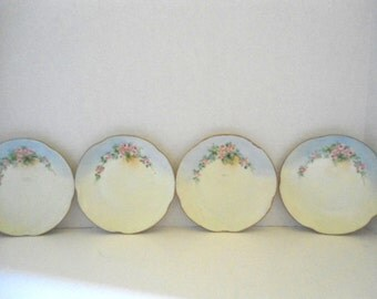 A beautiful Set of 4   J & C - (Jaeger and Co) Louise scalloped edge, porcelain plates.