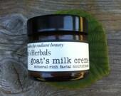 Organic Goat Milk Moisturizer with Edelweiss, Azulene, Yarrow, Ideal for Acne, Drab Skin, Brightening, Organic Acne Skin Care, Radiant Skin