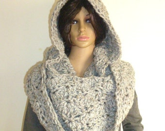 2014 fashion,Handmade, Unique ,Chunky Hooded Cowl  infinity Scarf