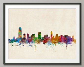 Jersey City Skyline, Art Print (193)
