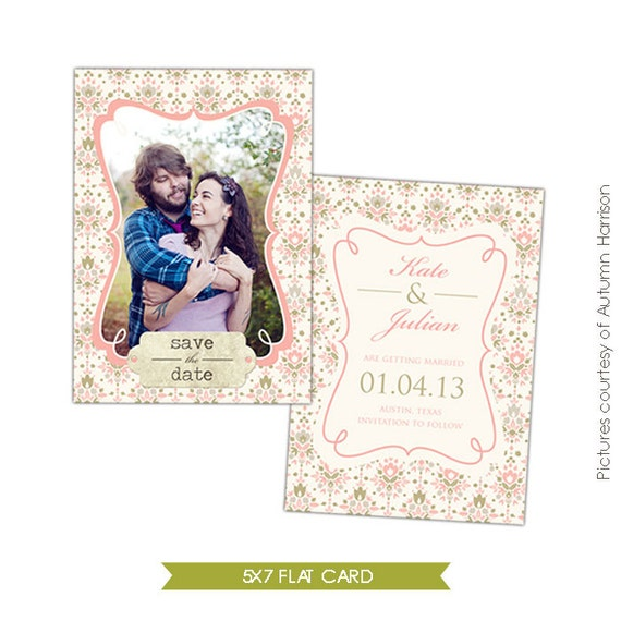 INSTANT DOWNLOAD - Save the Date Card Template - Our day- E300