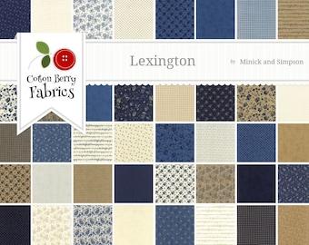Lexington Fat Quarter Bundle by Minnick and Simpson for Moda - One Fat Quarter Bundle - 14780AB