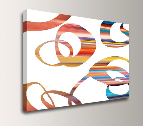 "Mid Century Wall Art - Gallery Wrapped Canvas Print - Colorful Wall Decor - ""Ricochet"""