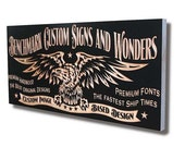 Custom Sign: Carved Wooden Sign for Custom Image Based Design Benchmark Signs Maple CI