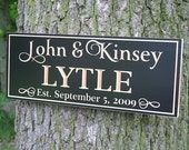 Personalized Wedding Sign, Established Sign, Wedding Sign, Family Established Sign, Benchmark Custom Signs Maple WJ