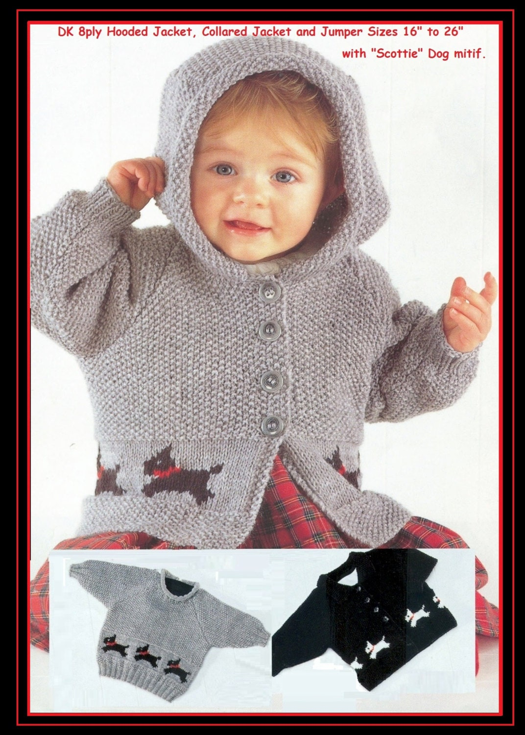 Baby / Childs Hooded Jacket and Sweaters with Scottie Dog