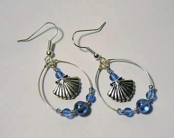 Ocean Waves Dangle Earrings