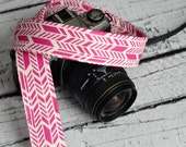 Pink Sunprint Camera Strap - dSLR Camera Strap - Preppy Camera Strap - Summer Fashion