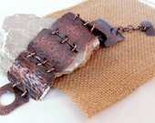 Copper bracelet hand forged Artisan