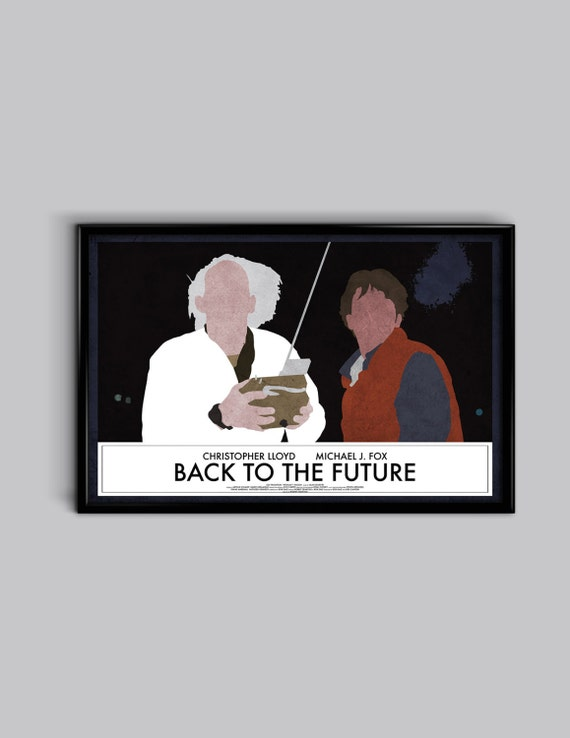 Back To The Future 17 x 11 Minimalist Movie Poster