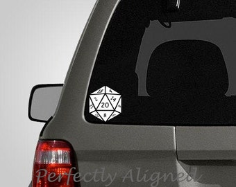 D20 Gaming Dice Car decal - Laptop decal, Macbook decal, etc...