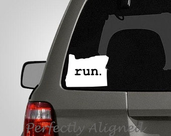 Oregon RUN Home State Vinyl Decal