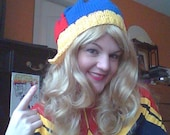 Comic Book Inspired Hat: Captain Marvel No. 9 Carol Danvers Lucky Hat - Made to order.