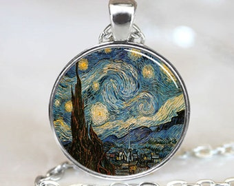Starry Night Pendant, Starry Night Necklace, Vincent van Gogh Pendant (PD0148)