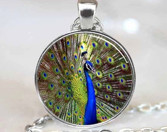 Peacock Pendant , Peacock Necklace , Peacock Jewelry (PD0232)