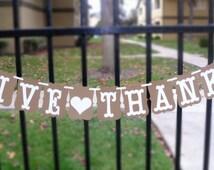 GIVE THANKS BANNER - Thanksgiving Banner