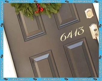 Street Number Vinyl Door Decal / Front Door Decal / Home Decal / Home Decor / Welcome Sign  / Greeting Decal