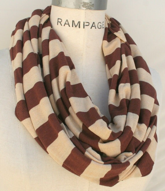 Best Selling Items Brown Infinity  Scarf  Stocking Stuffer Women's Accessories - By PIYOYO
