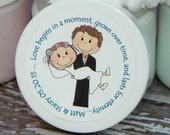 Wedding or Bridal Shower Favors - Personalized Whipped Body Butter (Mr. & Mrs. Design #2) - 2 oz - Paraben Free