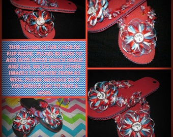 Dr. Seuss Flip Flops - this listing is for 1 pair