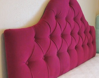 Custom Tufted Upholstered Headboard -- Wall Mounted -- Made to order