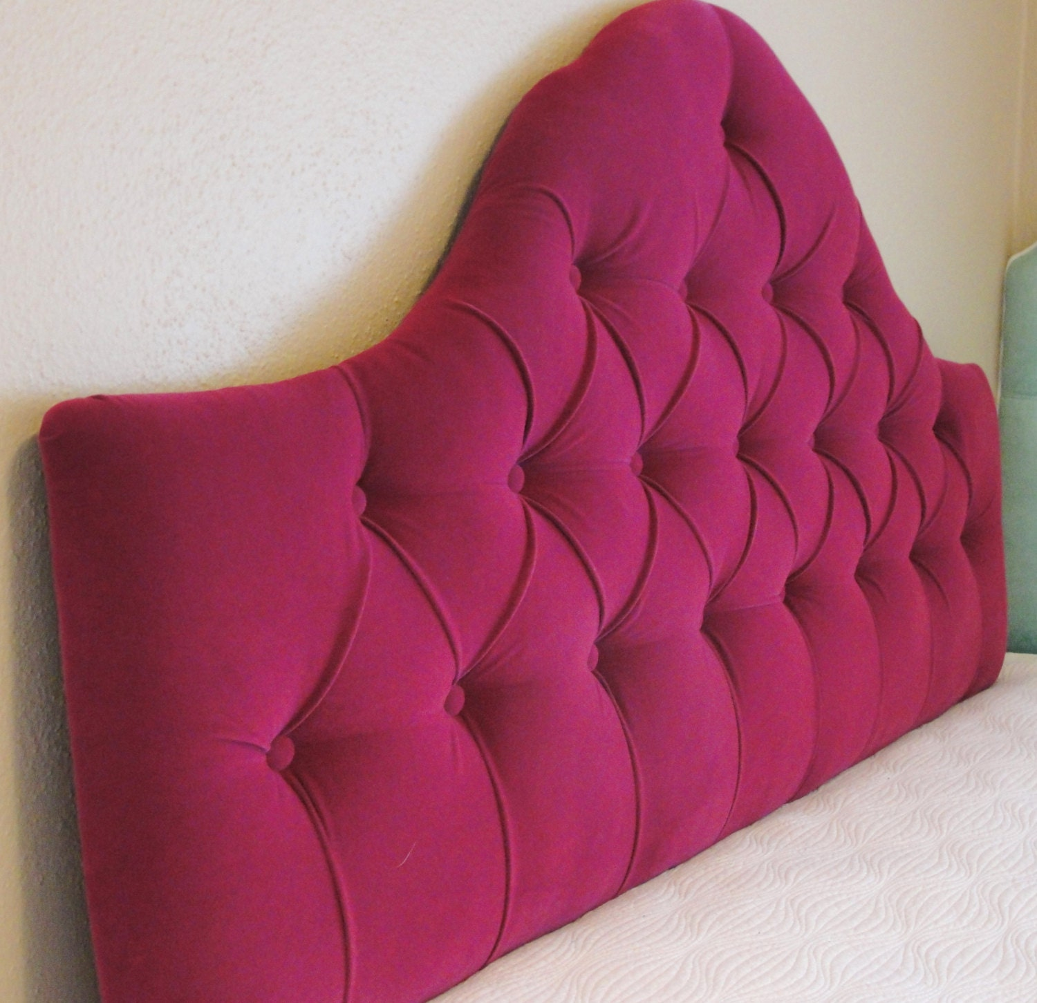 Custom Tufted Upholstered Headboard Wall Mounted Made To