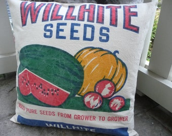 Watermelon Pillow Cover - Country Decor -  Rustic Pillow Cover -  Willhite Seeds - Farmhouse Decor - Country Style
