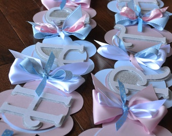 Happy Birthday Banner Pink, Light Blue, Silver, White,Cinderella