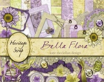 Bella Flora - Digital Scrapbooking Kit