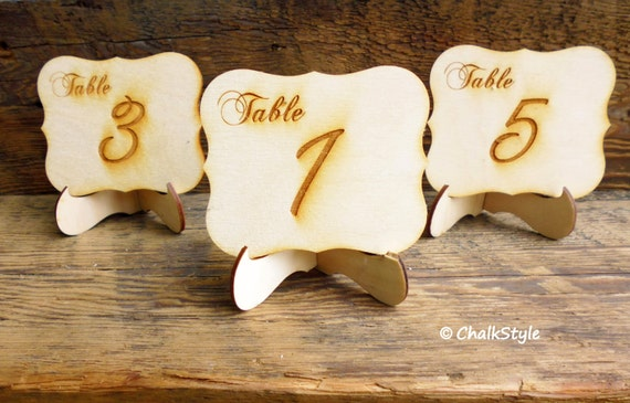 TABLE NUMBERs With STANDS Wedding Table Decor Mini Table Numbers - Table numbers restaurant supplies