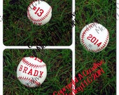 Embroidery Design template to embroider your own REAL baseball or softball