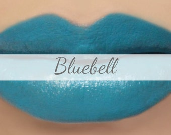 "Blue Lipstick Sample - ""Bluebell"" (bright blue lipstick) natural lip tint, balm, lip colour opaque mineral lipstick"
