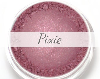 "Eyeshadow Sample - ""Pixie"" - Rose with Pink and Turquoise Shimmer Vegan Mineral Eyeshadow Net Wt .4g Mineral Makeup Eye Color Pigment"