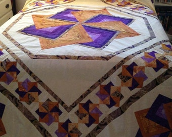 Star Spin Quilt Top