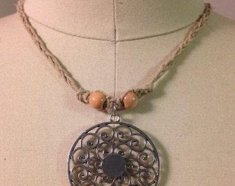 Curly Pendant Hemp Necklace