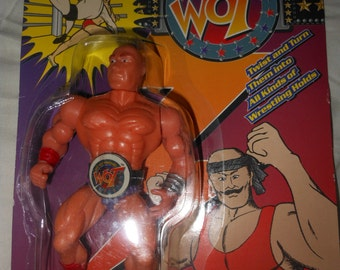 rare moc wrestling figure 1980's - way out wrestling - wwf wwe remco