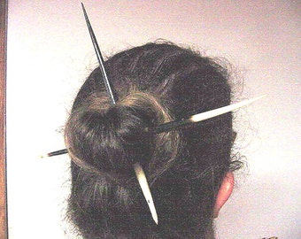"Set of Two Huge African Porcupine Quills Hair Stick 7""- 8"" long"