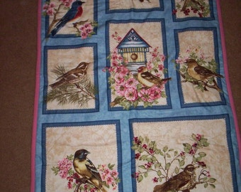HAND QUILTED Bird Wall Hanging
