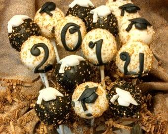 Cake Pops Or Cake Balls Graduation 24 Cake  Pops Special Price
