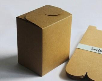 Set of 5, Kraft Gift Box, Gift Box, Favor, Gift, Party