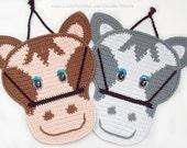 034 Horse -  Crochet Pattern. Decor or Potholder. Amigurumi. PDF file by Zabelina Etsy