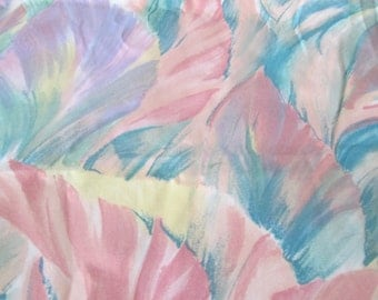 SALE now 18.00  Pretty pastel The fantasia collection fabric. 3 yards