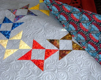 Handmade Patchwork Quilts for Sale - Modern Pinwheel - Patchwork Quilts - Quilts for Sale - Free Shipping