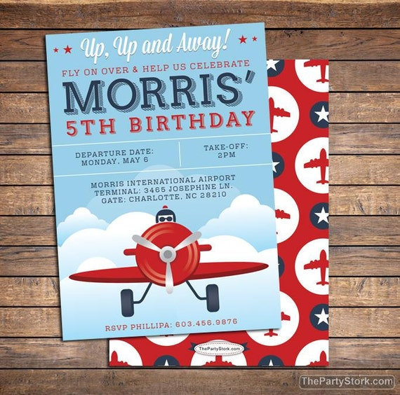 Printable Vintage Airplane Party Collection Diy By: Airplane Invitation Boy Invitations Airplane Party Airplane