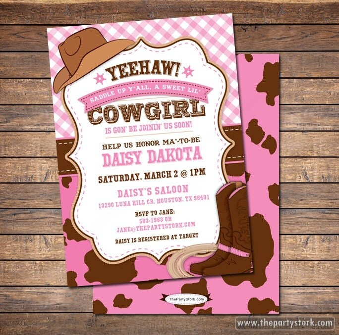 cowgirl baby shower invitation cowgirl baby shower cowgirl