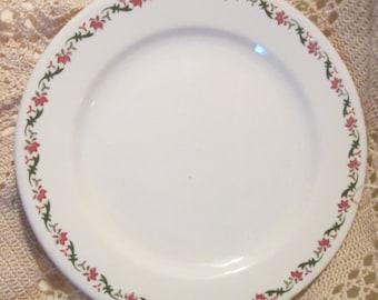 Vintage Jackson China Pink Floral Restaurant Ware Plate